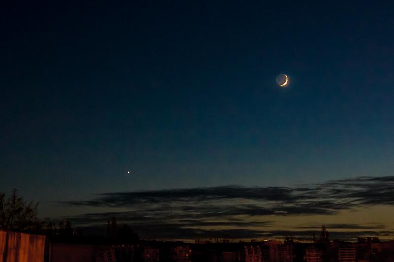 Wenus o zachodzie słońca....