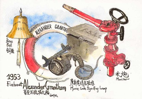 Items of Fireboat Alexander Grantham