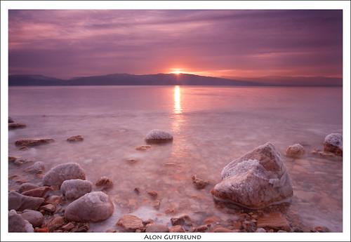 light sea sun water clouds sunrise canon dead israel rocks desert 5d judeandesert
