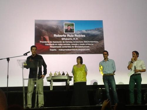 Roberto Ruiz Robles premio Twitter al mejor perfil ambiental