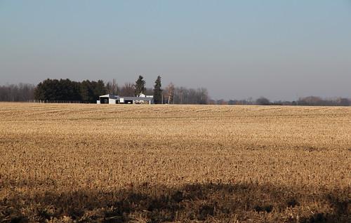 county ohio house field farmhouse corn farm scenic farmland pleasant township stubble sandusky outbuildings ballville