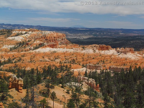 Overlooking where you've been hiking on the Fairyland Trail, Bryce Canyon National Park, Utah