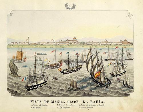 019-VISTA DE MANILA DESDE LA BAHIA-Vistas de las Yslas Filipinas y Trages…1847-J.H. Lozano- Biblioteca Digital Hispánica