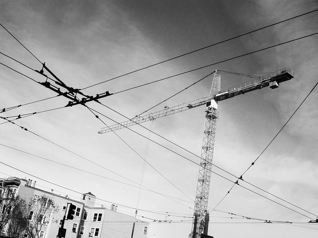 Construction Crane and Wires