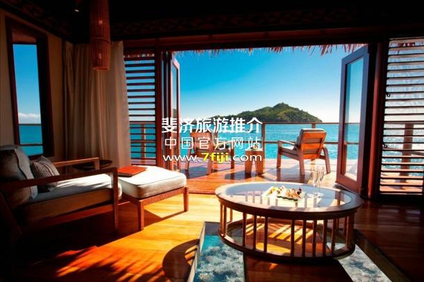 斐济利库利库泻湖度假酒店(Likuliku Lagoon Resort)水上别墅内部