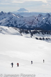 Mt. Rainier backcountry ski 1/16/14