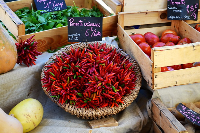 Chillies, Market, Forcalquier, Provence, France