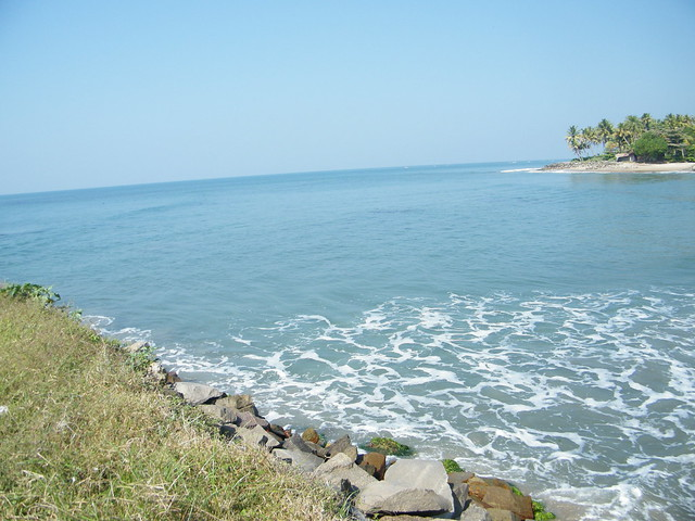 Arabian Sea from Thirumullavaram beach, Kerala