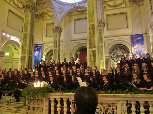 The St Louis Rathmines First Year Choir performing at the St Louis Centenary Christmas Concert on December 12, 2013