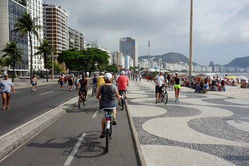 On a bike, Copacabana beach, Rio