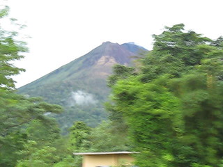 Approaching the Arenal Volcano