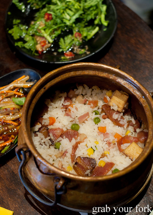 Yunnan potato risotto crispy rice at Two Sticks Yunnan China, Sydney