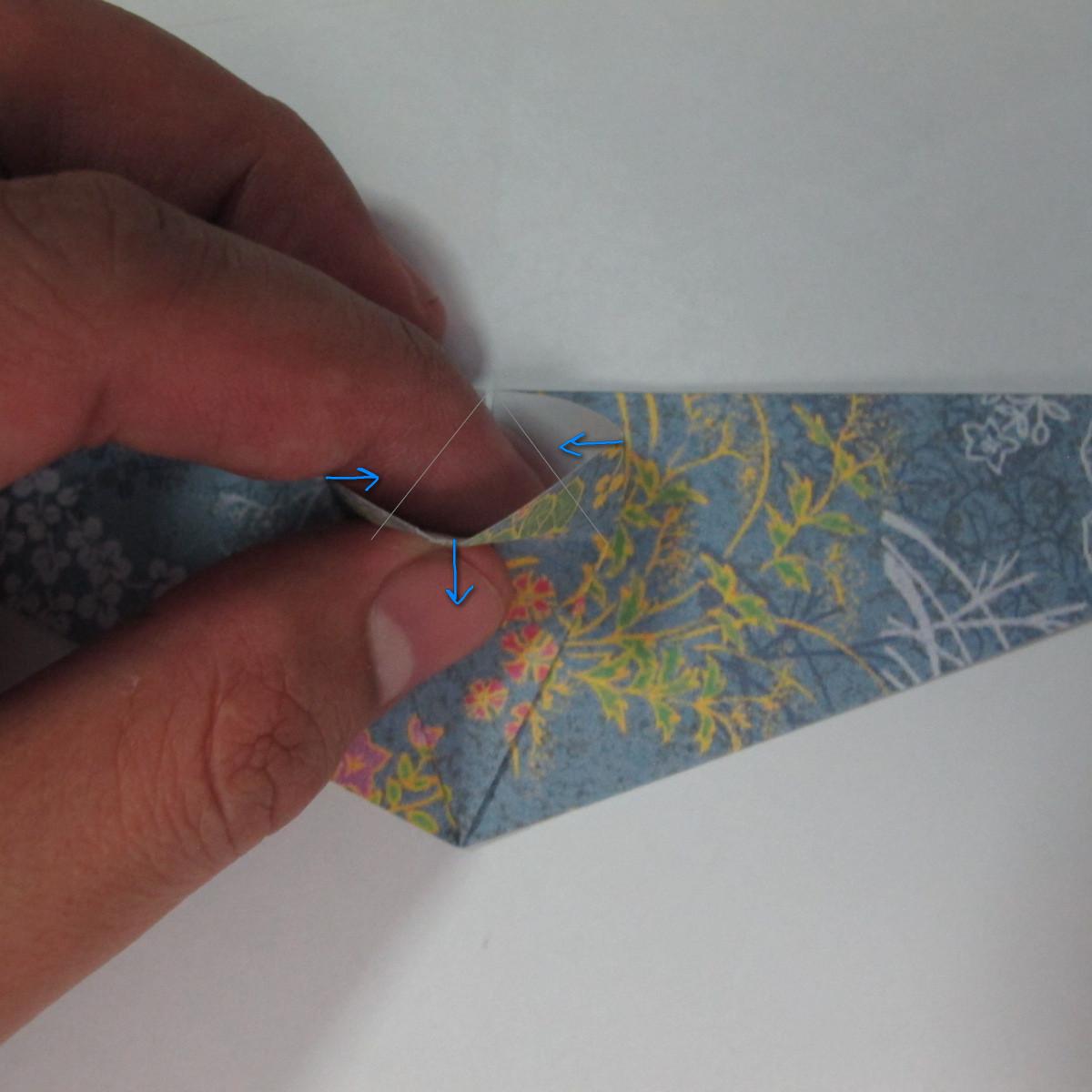 วิธีการพับกระดาษเป็นรูปม้า (Origami Horse) 022