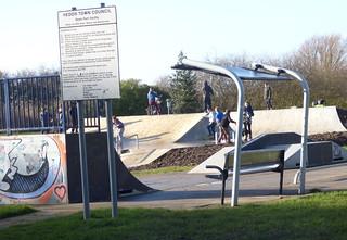 Skate park being used