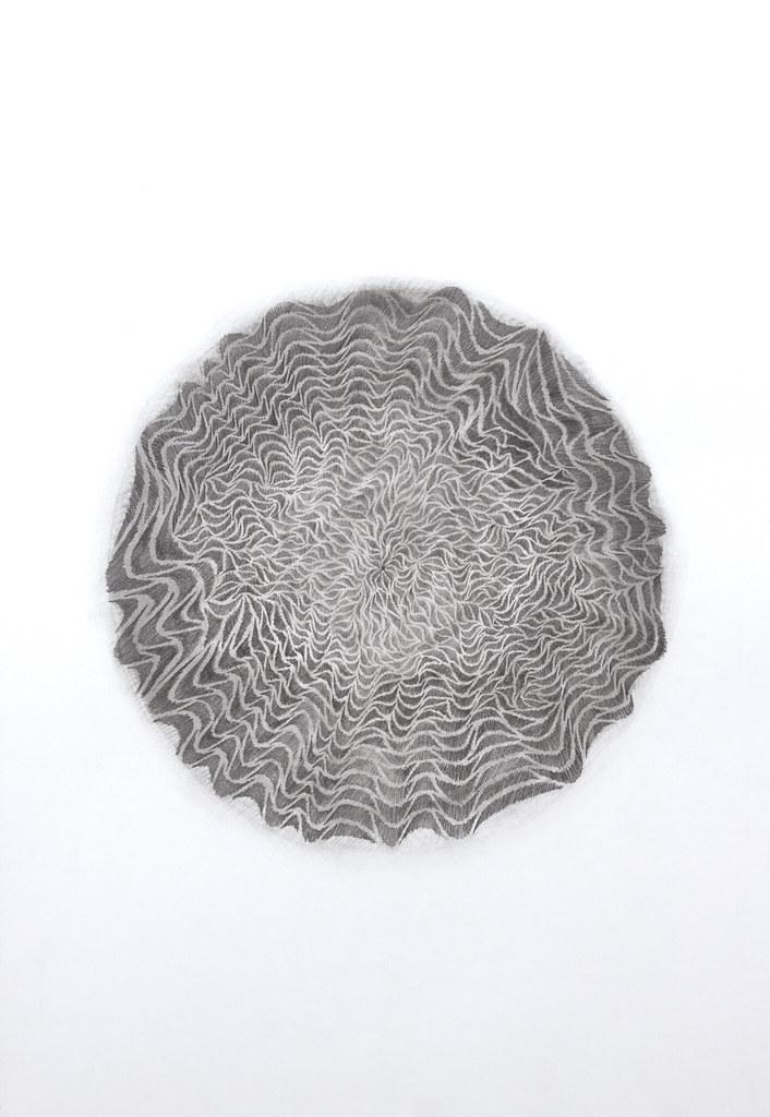 "Nicholas Mannira Improv. Mandala 20"" x 30"" Graphite 2013"