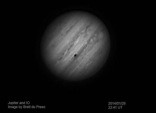 Jupiter IO shadow transit