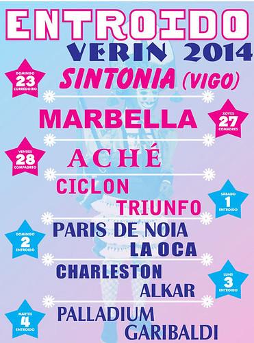 Verín 2014 - Entroido - cartel orquestras