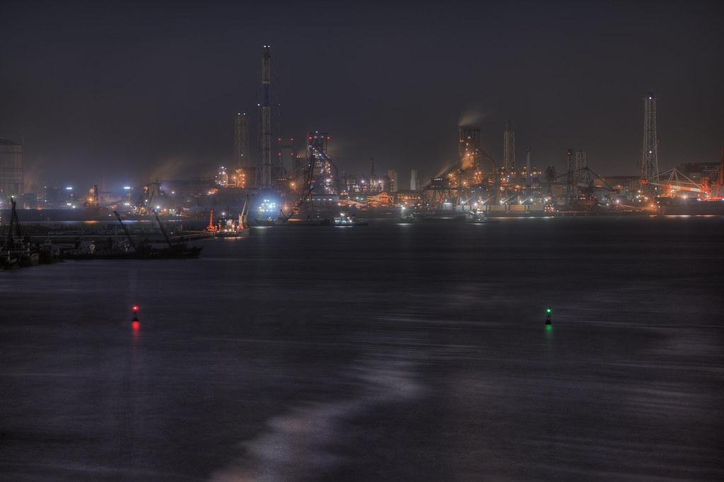 君津の高炉俯瞰撮影2014 3 11