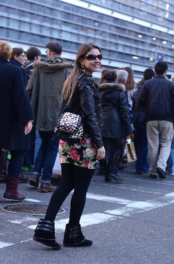 Look Da Laura Vestido Floral E Jaqueta Preta Blog Da Laura Peruchi Tudo Sobre Nova York