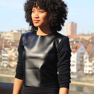 faux leather pleather wool sweater upcycle recycle
