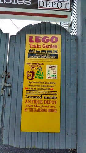 Lego Train Garden Sign