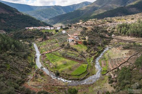Meandros del río Esperabán en Las Hurdes