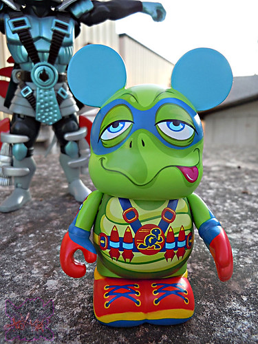 "Vinylmation ZOOPER HEROES :: 'ZIPPY THE ROCKET TURTLE' - DISNEY VINYL 3"" ii ((  2013 ))"