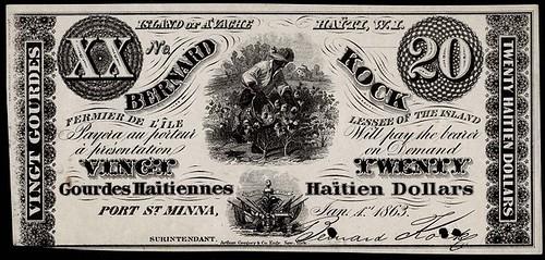 1863 20 Haitien Gourdes-Dollars