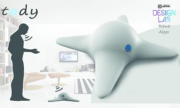 """电子游艺上288x""""四臂章鱼""""机器人 可爬上窗帘和沙发打扫卫生-玩意儿"""