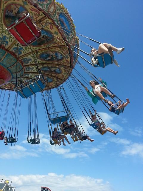 On the swings-my favorite