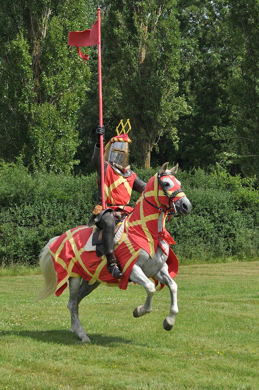Knights at Hever Castle.