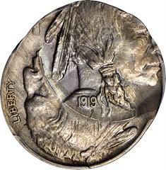 Double Struck 1919 Buffalo Nickel obverse