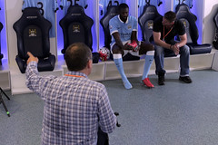 Premier League behind the scenes filming with Yaya Toure