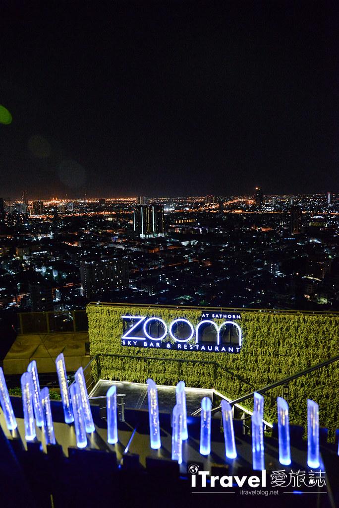 《曼谷高空酒吧》ZOOM Sky Bar & Restaurant:安纳塔拉公寓酒店楼顶,360度环绕天台景观。