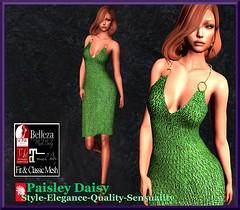 Paisley Daisy - Slinky Green Dress