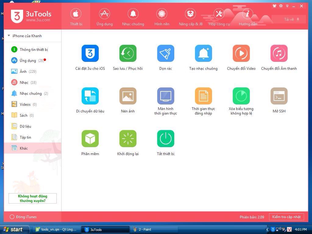 3uTools - Công cụ miễn phí giúp quản lý, backup, jailbreak    iPhone