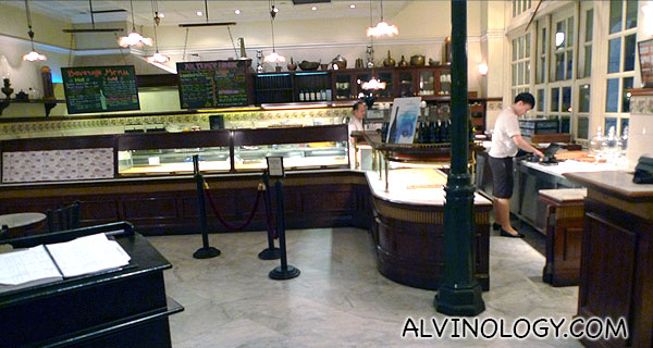 Pastry and brea section in the adjoining bakery
