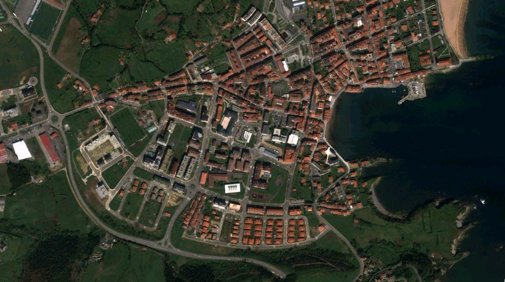 después, urbanismo, foto aérea,desastre, urbanístico, planeamiento, urbano, construcción,Luanco, Asturias