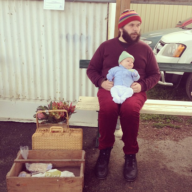 My boys at the market on the weekend #babyjagoe