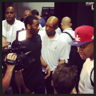 Sam Cassell & John Wall ... always coaching. #wizards