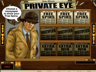 Private Eye Slot Bonus Feature