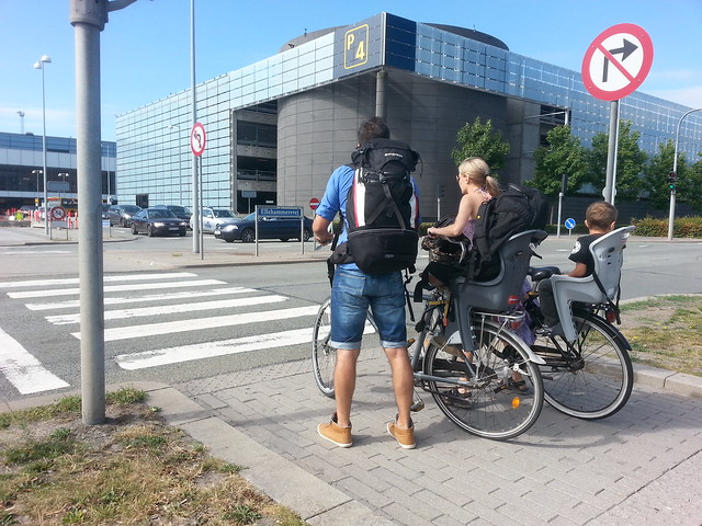 Riding Bikes to Airport in Copenhagen