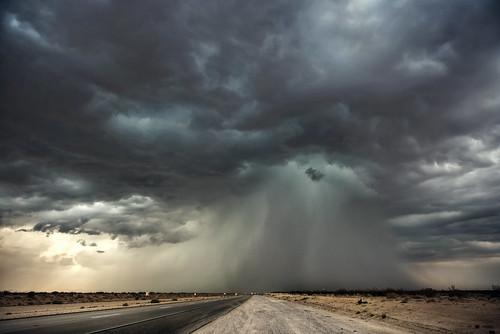 rain wall, mojave desert