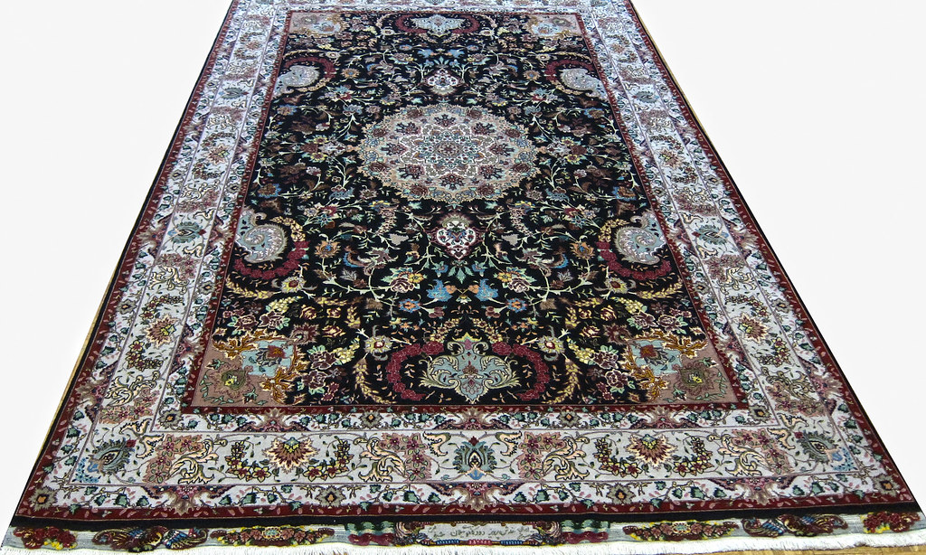 Shirfar 60 Raj Tabriz Silk Persian Area Rug