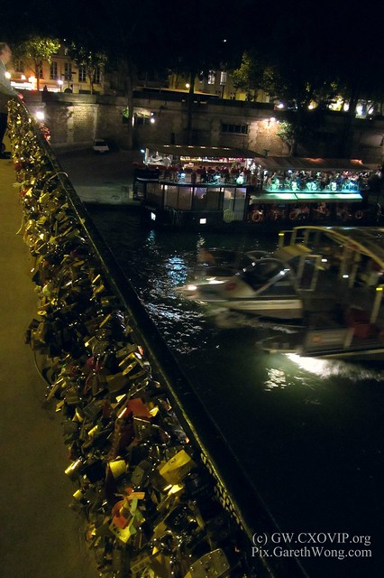 The lovers' locks at