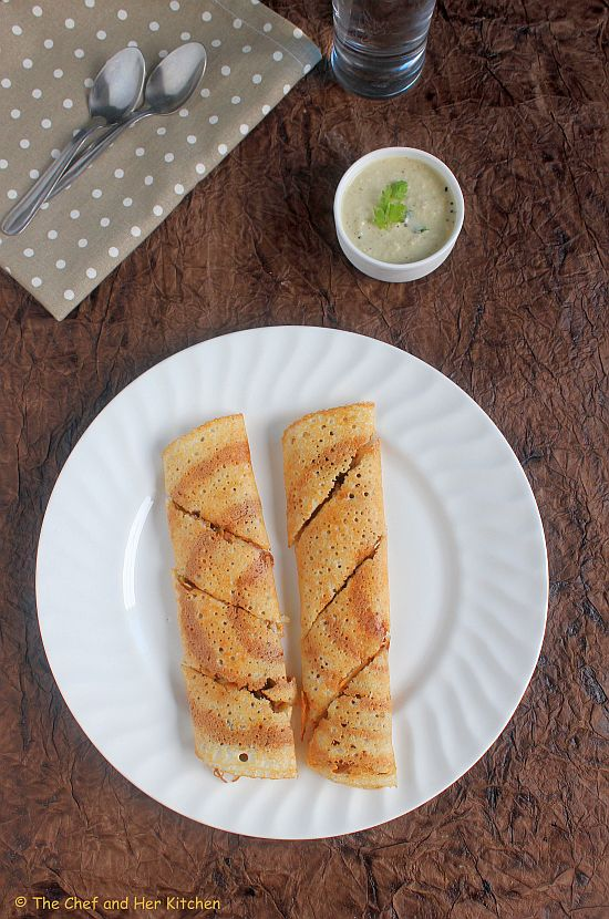 vegetable spring roll dosa