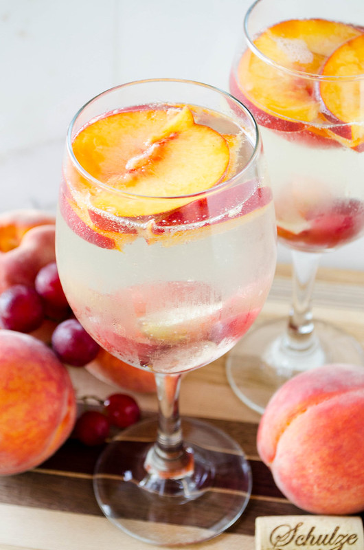 White Peach Sangria | cooking ala mel