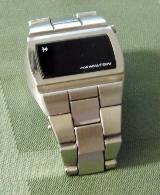 Vintage Hamilton Men's LED Silvertone Watch, Circa 1970s ...