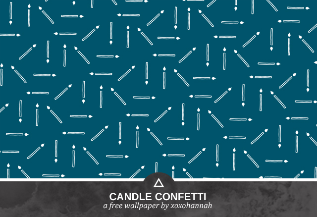 Candle Confetti Desktop Background Preview in Blue Green