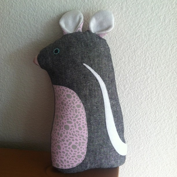 Check out Rowan's adorable new mouse!! Made by @kristafleck , so perfect for her nursery!! Thanks!